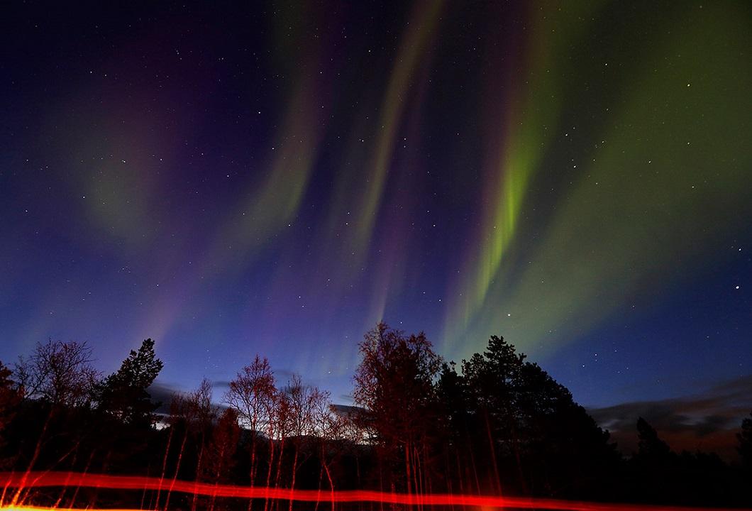 severnoe siyanie v norvegii 4 Северное сияние в Норвегии