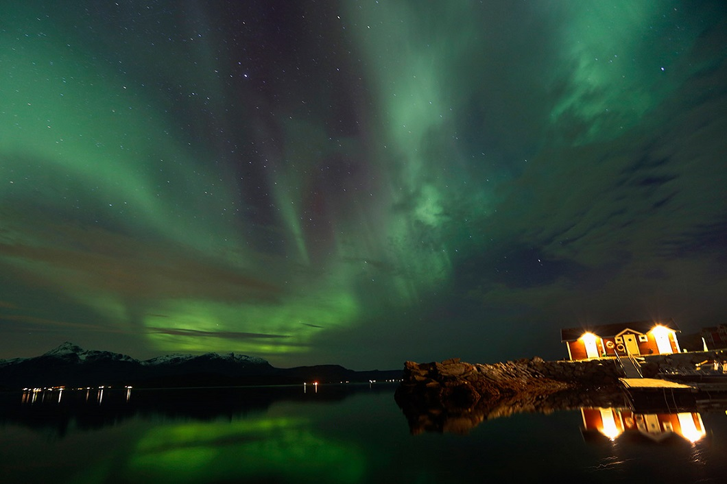 severnoe siyanie v norvegii 7 Северное сияние в Норвегии