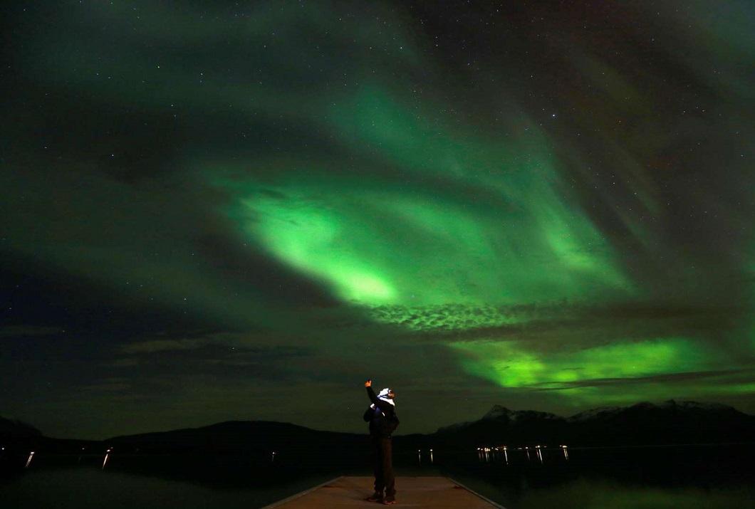 severnoe siyanie v norvegii 8 Северное сияние в Норвегии