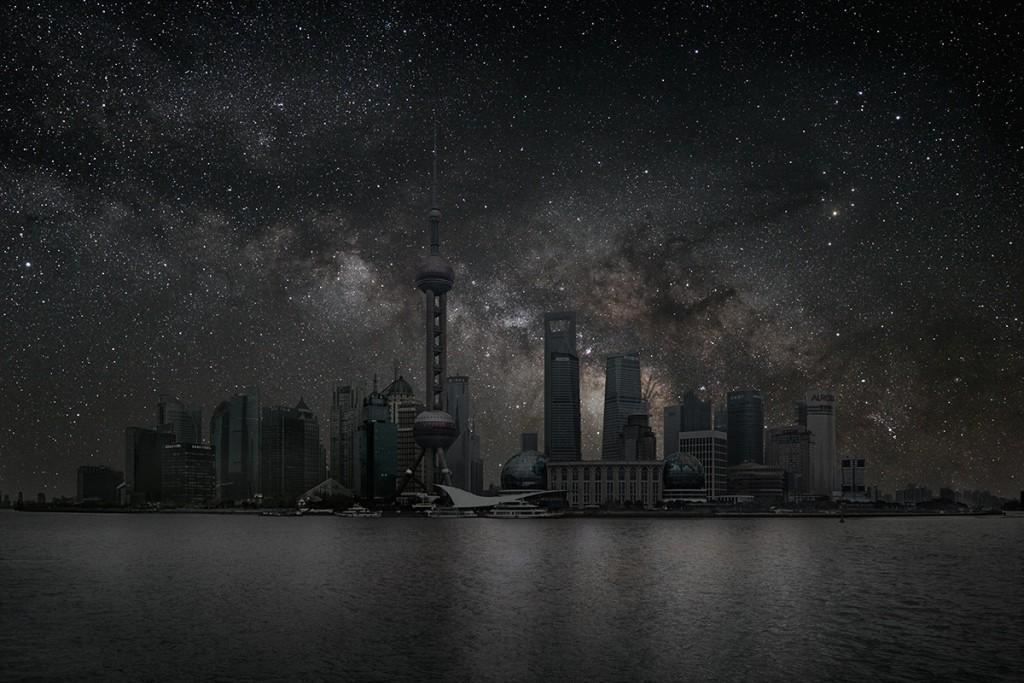DarkenedCities01 Города, освещенные только звездами