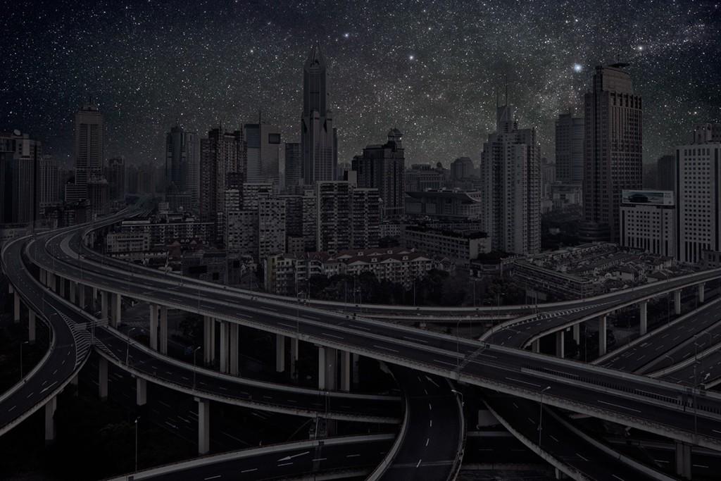 DarkenedCities08 Города, освещенные только звездами