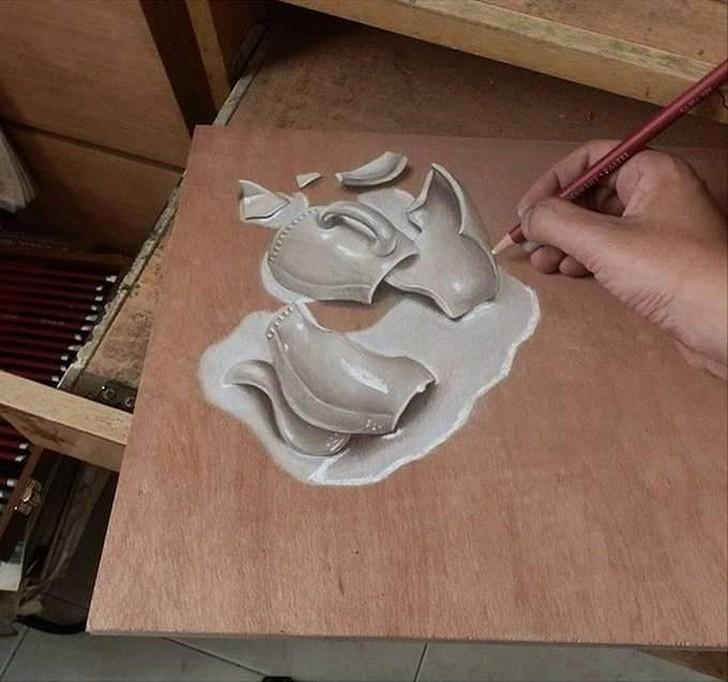 IvanHoo03 Рисунки, которые невозможно отличить от реальных прототипов