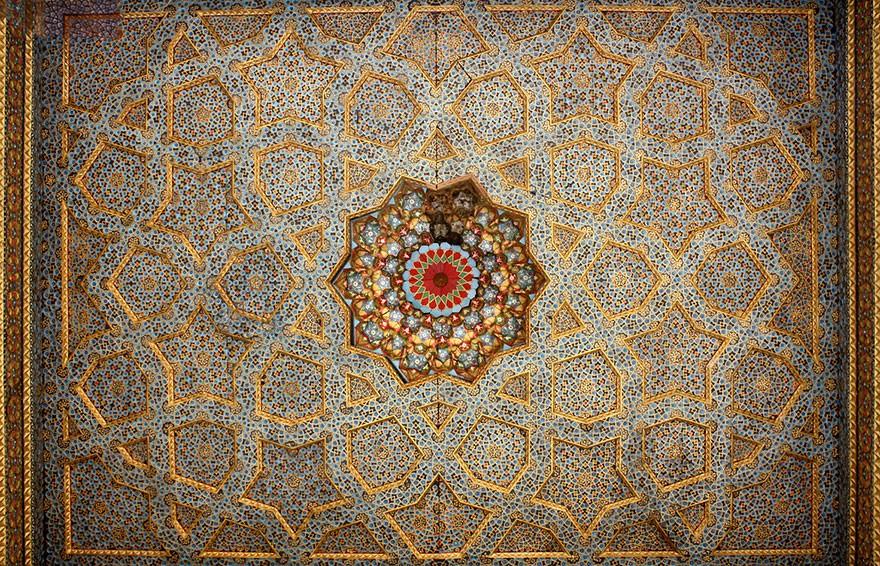 MosqueCeilings20 Чарующие и гипнотизирующие своды мечетей
