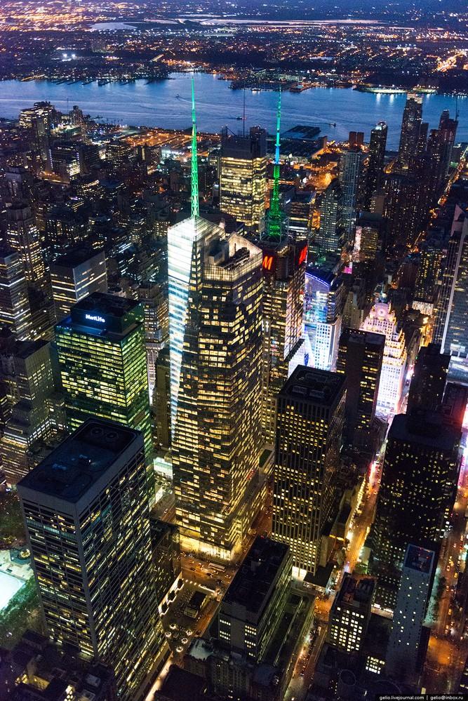 Нью Йорк с высоты птичьего полета