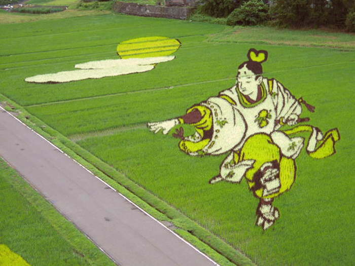 landart10 Необыкновенные картины на рисовых полях
