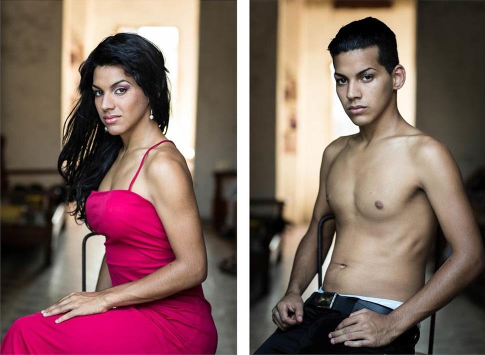 Reassign01 Кубинские транссексуалы — до и после смены пола