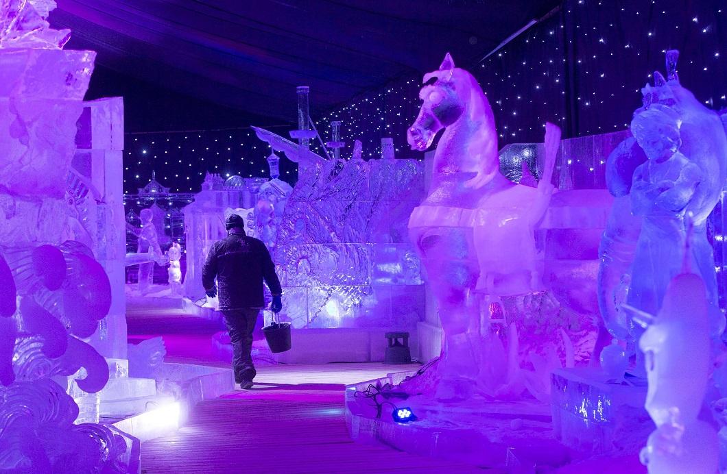 Международный фестиваль ледяных скульптур в Бельгии