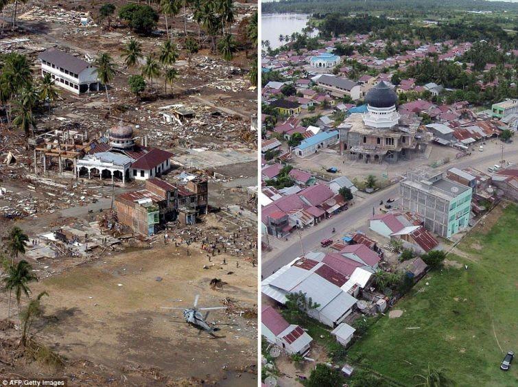 zunami01 10 лет спустя: сравниваем фотографии восстановления Индонезии
