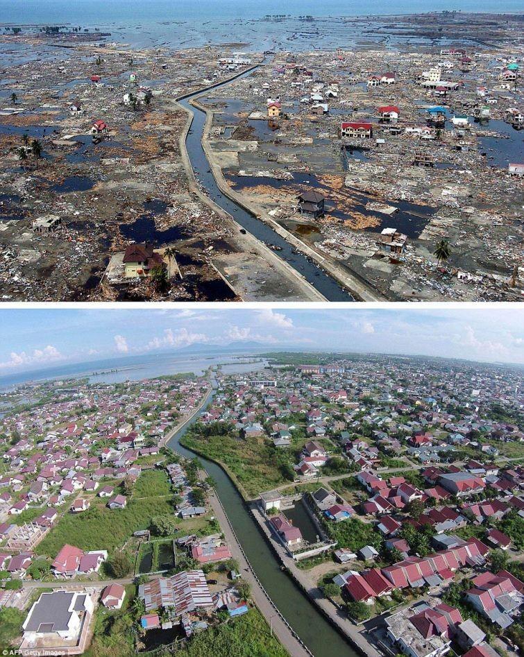 zunami02 10 лет спустя: сравниваем фотографии восстановления Индонезии