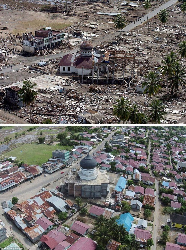 zunami03 10 лет спустя: сравниваем фотографии восстановления Индонезии