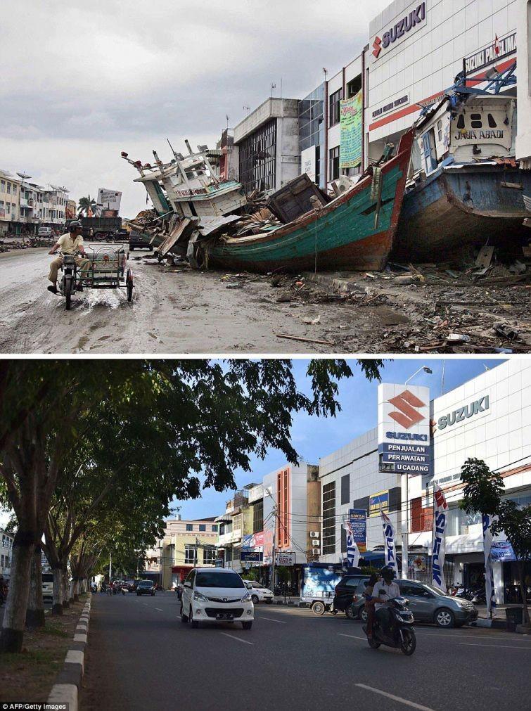 zunami04 10 лет спустя: сравниваем фотографии восстановления Индонезии