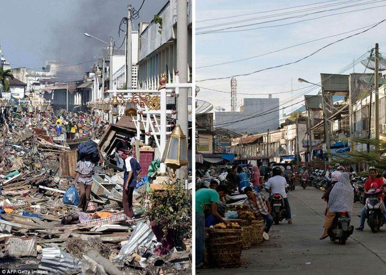 zunami05 10 лет спустя: сравниваем фотографии восстановления Индонезии