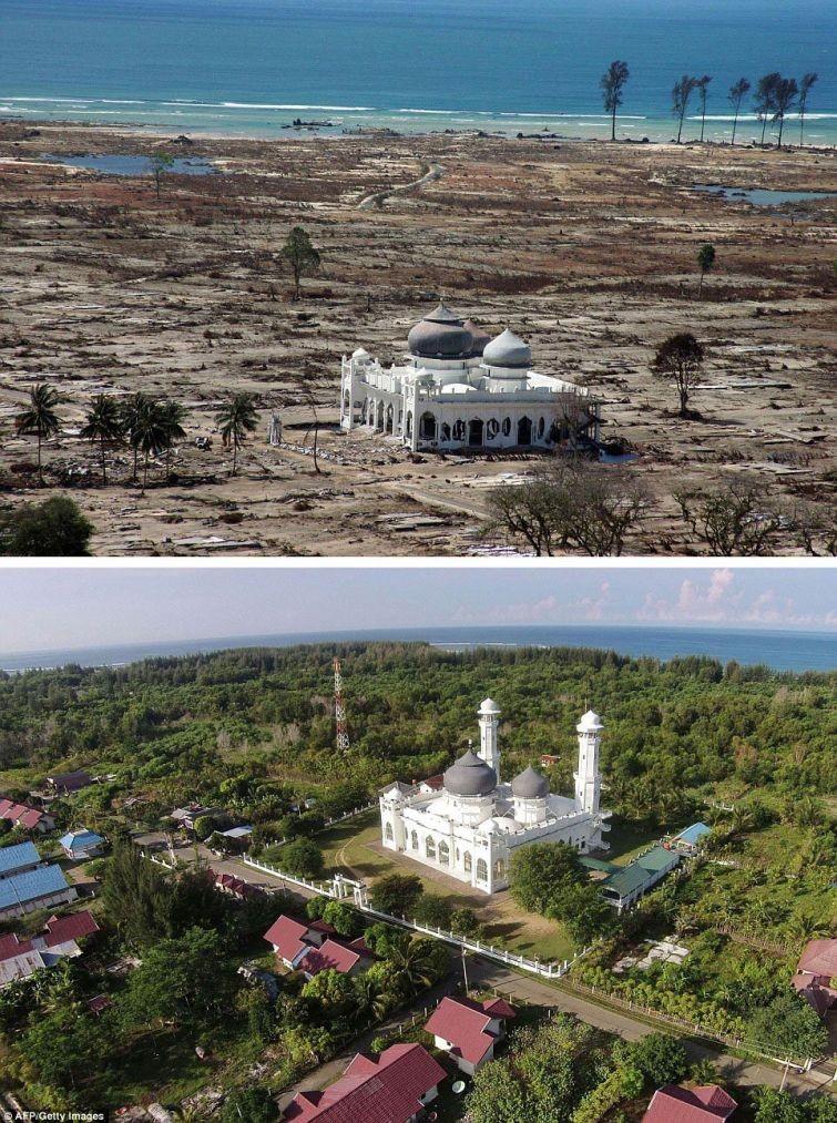 zunami06 10 лет спустя: сравниваем фотографии восстановления Индонезии