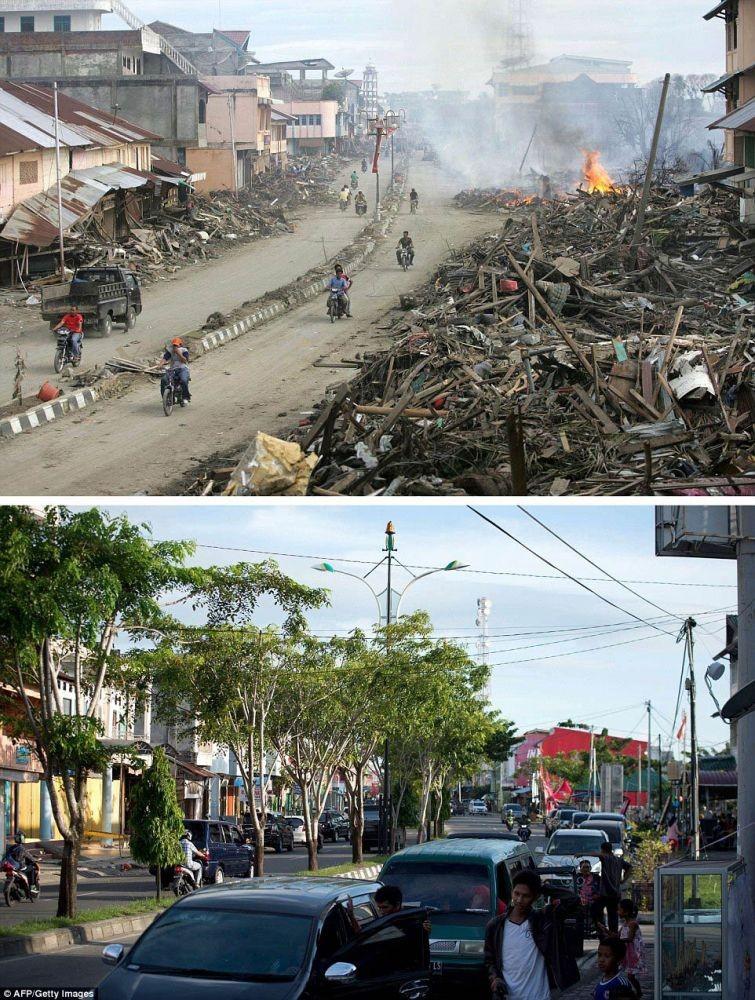 zunami07 10 лет спустя: сравниваем фотографии восстановления Индонезии