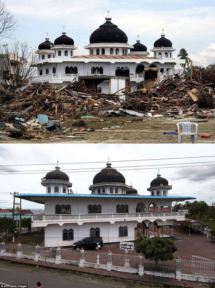 zunami10 10 лет спустя: сравниваем фотографии восстановления Индонезии