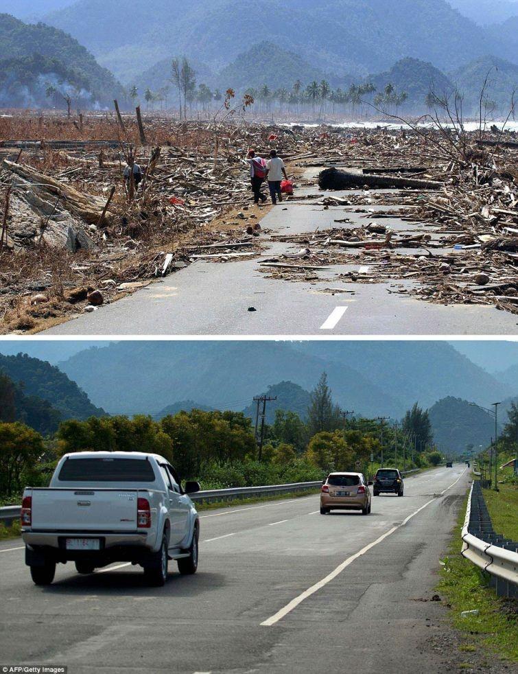 zunami11 10 лет спустя: сравниваем фотографии восстановления Индонезии