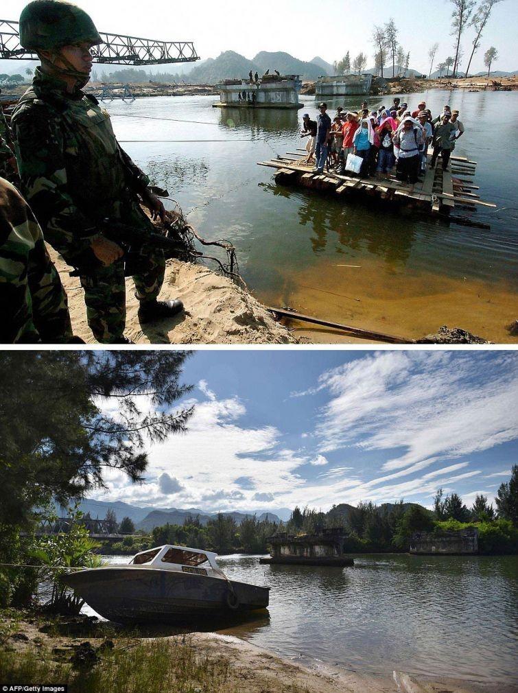 zunami12 10 лет спустя: сравниваем фотографии восстановления Индонезии