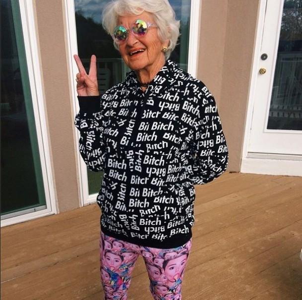 BaddieWinkle13 86 летняя крутая бабушка постит отвязные фото в Instagram