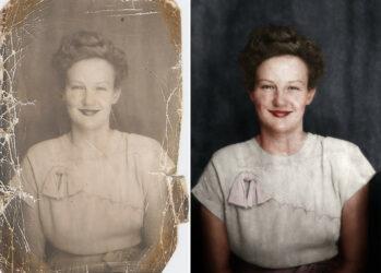 До и после: процесс раскрашивания чб-фотографий в увлекательной анимации