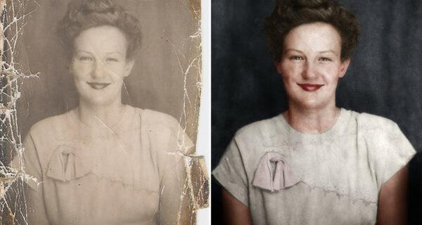 До и после: процесс раскрашивания ч/б фотографий в увлекательной анимации