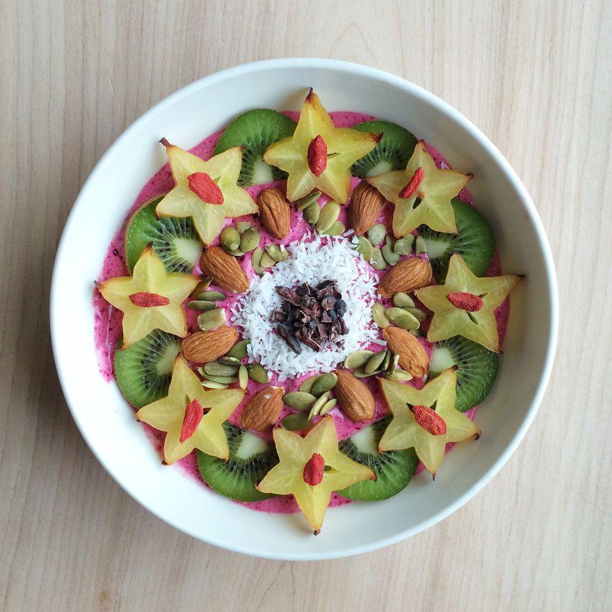 Vegan07 Девушка создает настоящие произведения искусства из своих веганских блюд