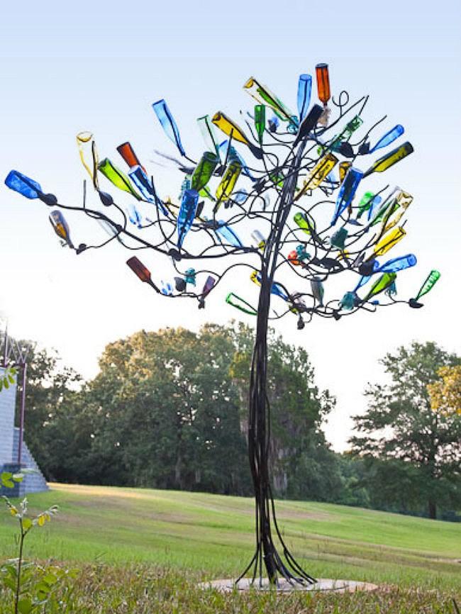 WineBottle17 22 способа превратить пустую бутылку в практичное произведение искусства