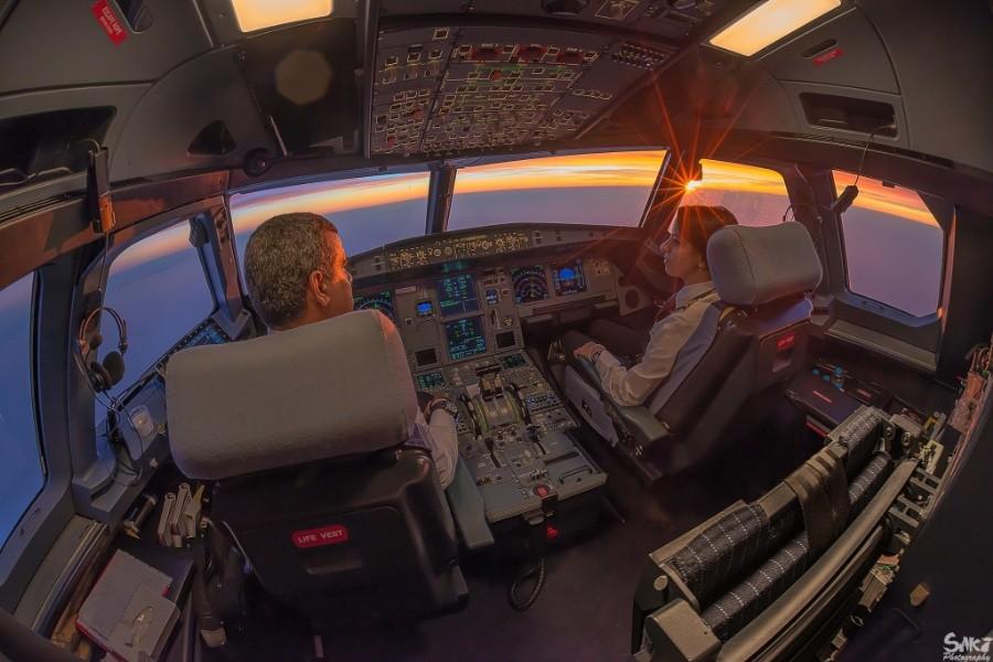 fromcockpit05 25 фотографий, сделанных пилотами из кабин самолётов