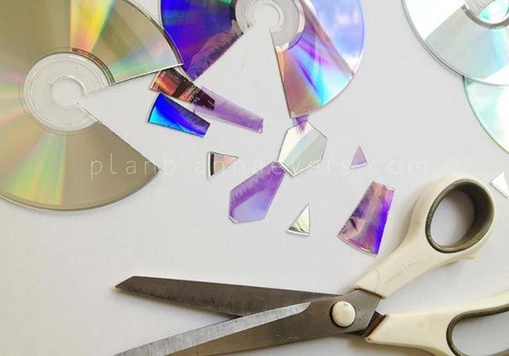 oldCDs19 25 блестящих идей по утилизации старых компакт дисков