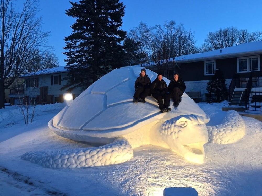snowdrift02 20 способов художественно оформить сугроб