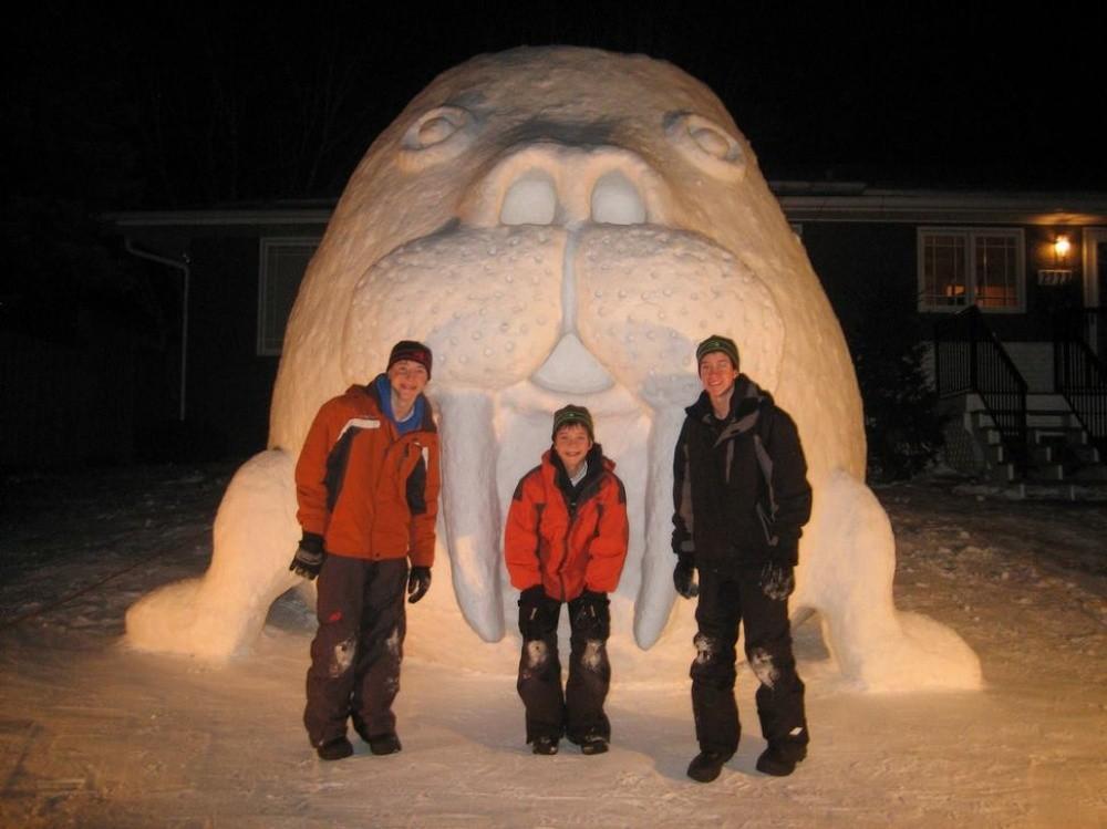 snowdrift03 20 способов художественно оформить сугроб