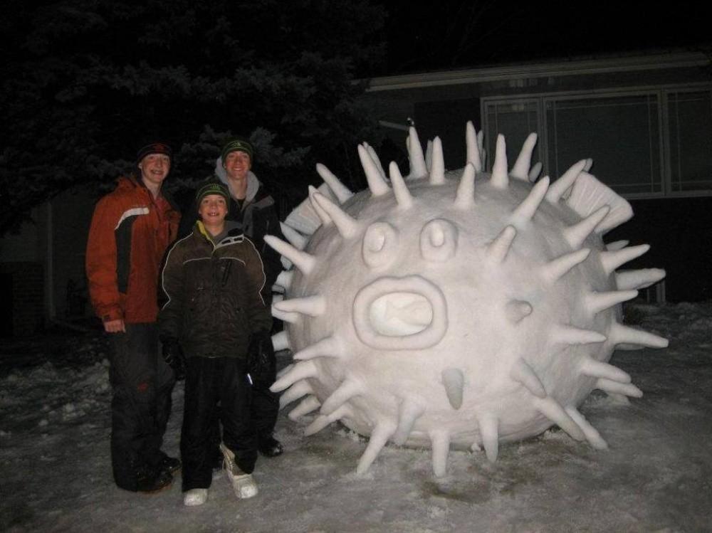 snowdrift04 20 способов художественно оформить сугроб