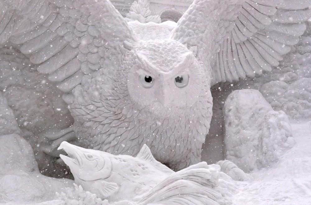 snowdrift05 20 способов художественно оформить сугроб