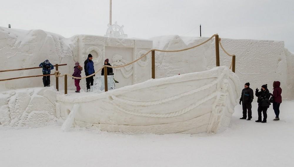 snowdrift06 20 способов художественно оформить сугроб