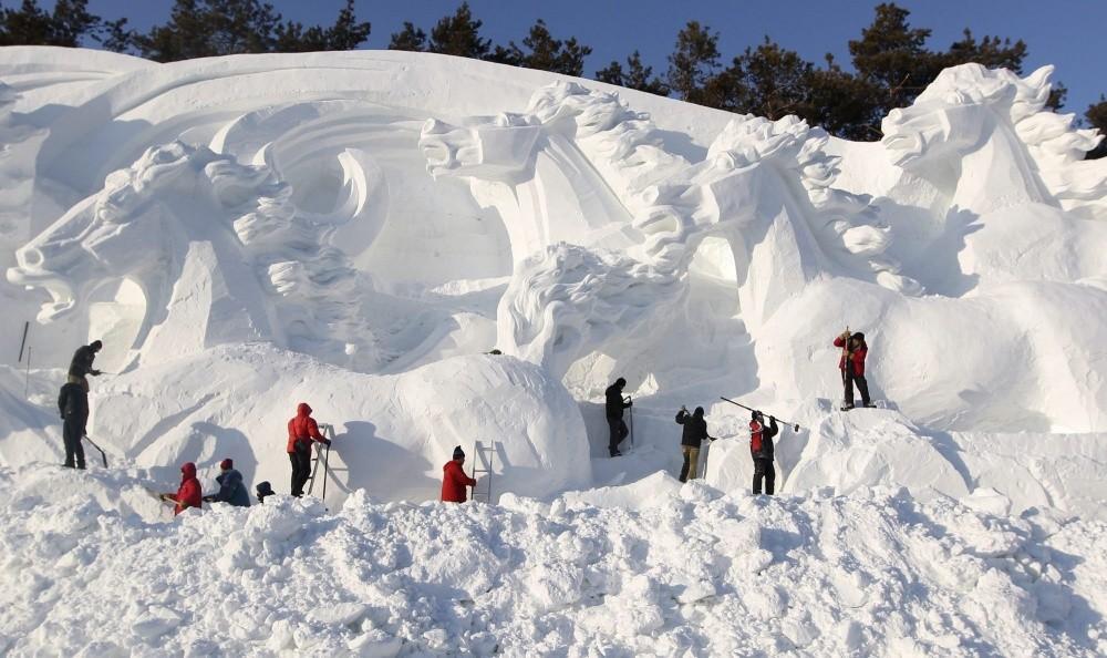 snowdrift07 20 способов художественно оформить сугроб