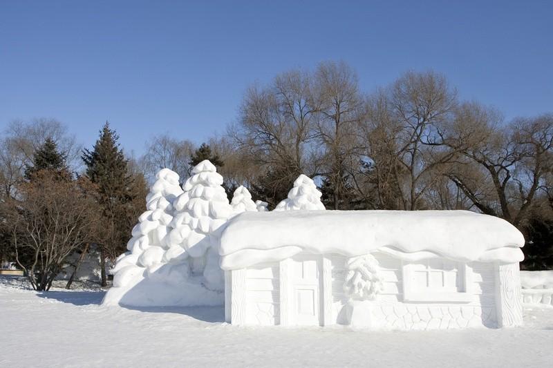 snowdrift16 20 способов художественно оформить сугроб