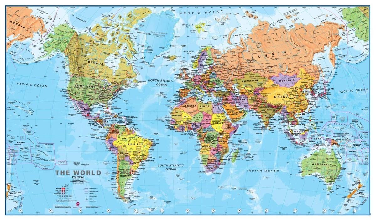 worldmaps02 Карты мира?—?как они выглядят в разных странах