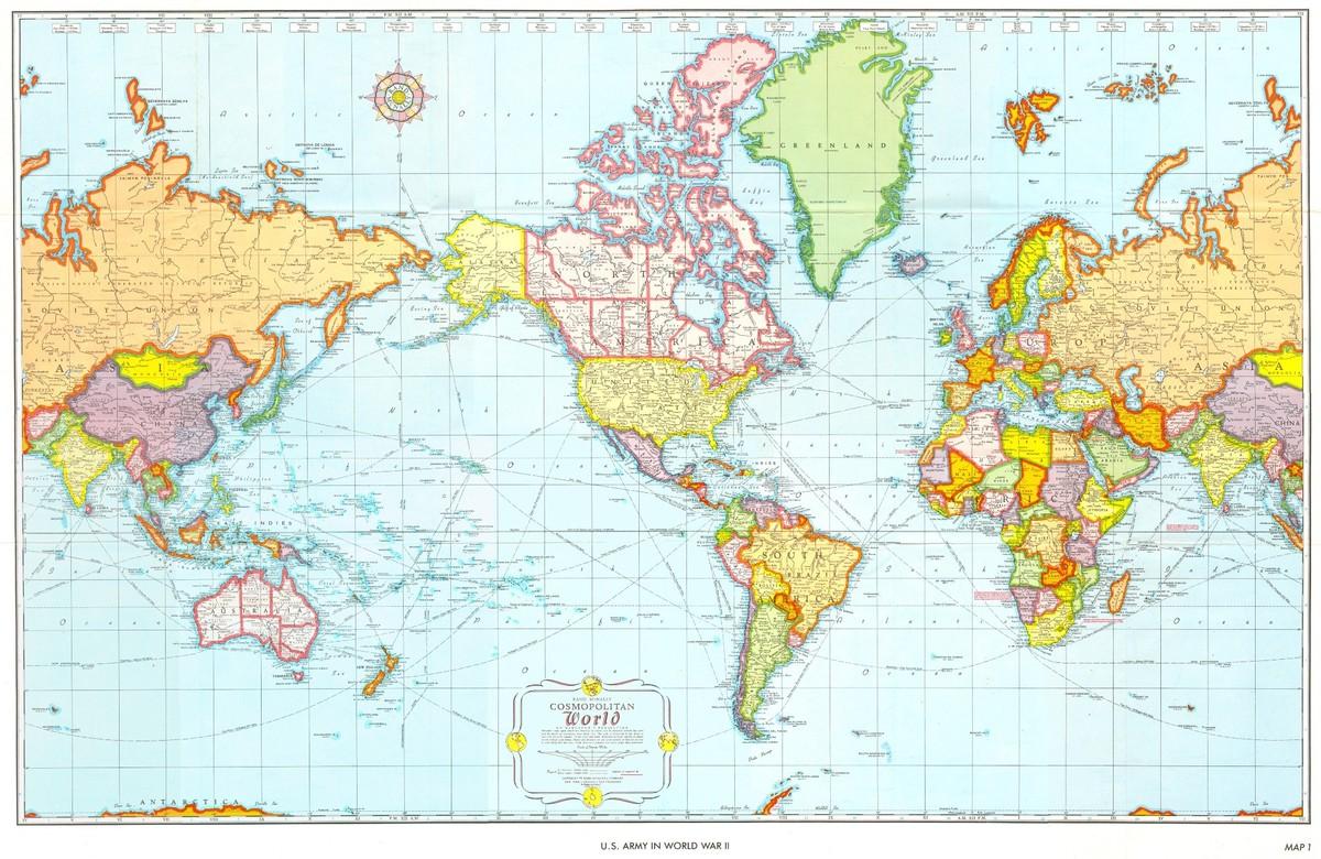worldmaps03 Карты мира?—?как они выглядят в разных странах