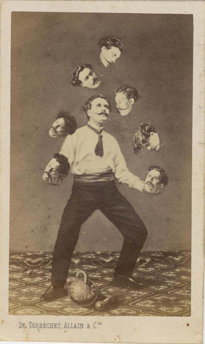 007Man Juggling His Own Head 1880 Своими руками: обработанные снимки доцифровой эпохи