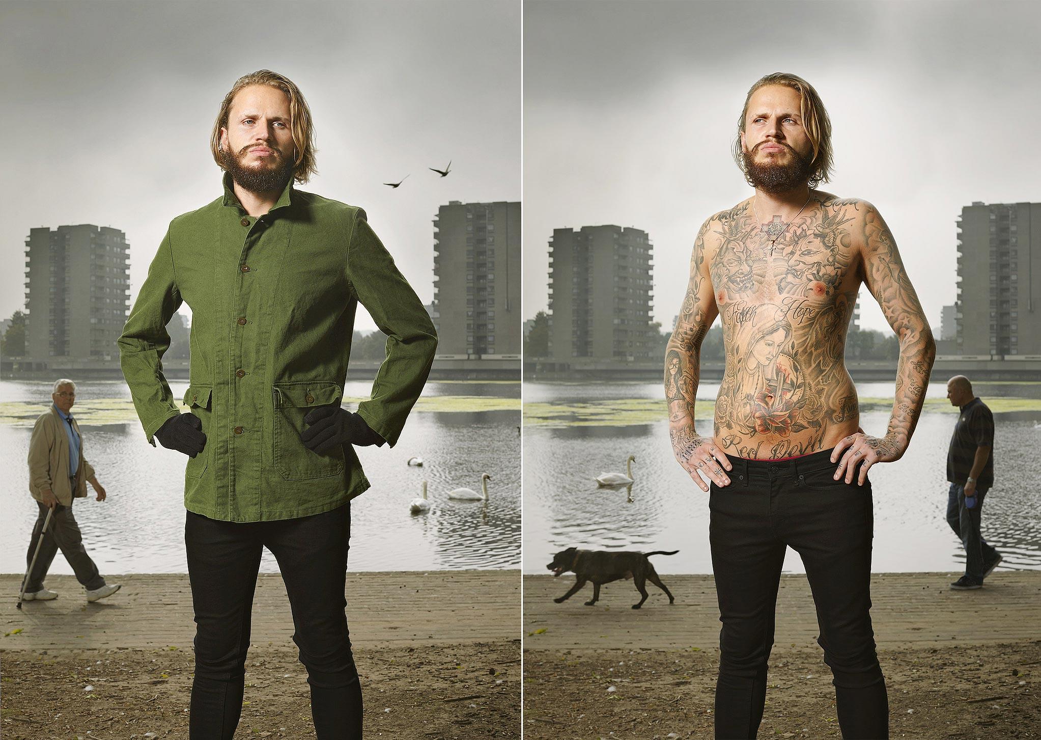013 14 фото английских любителей тату в одежде и без