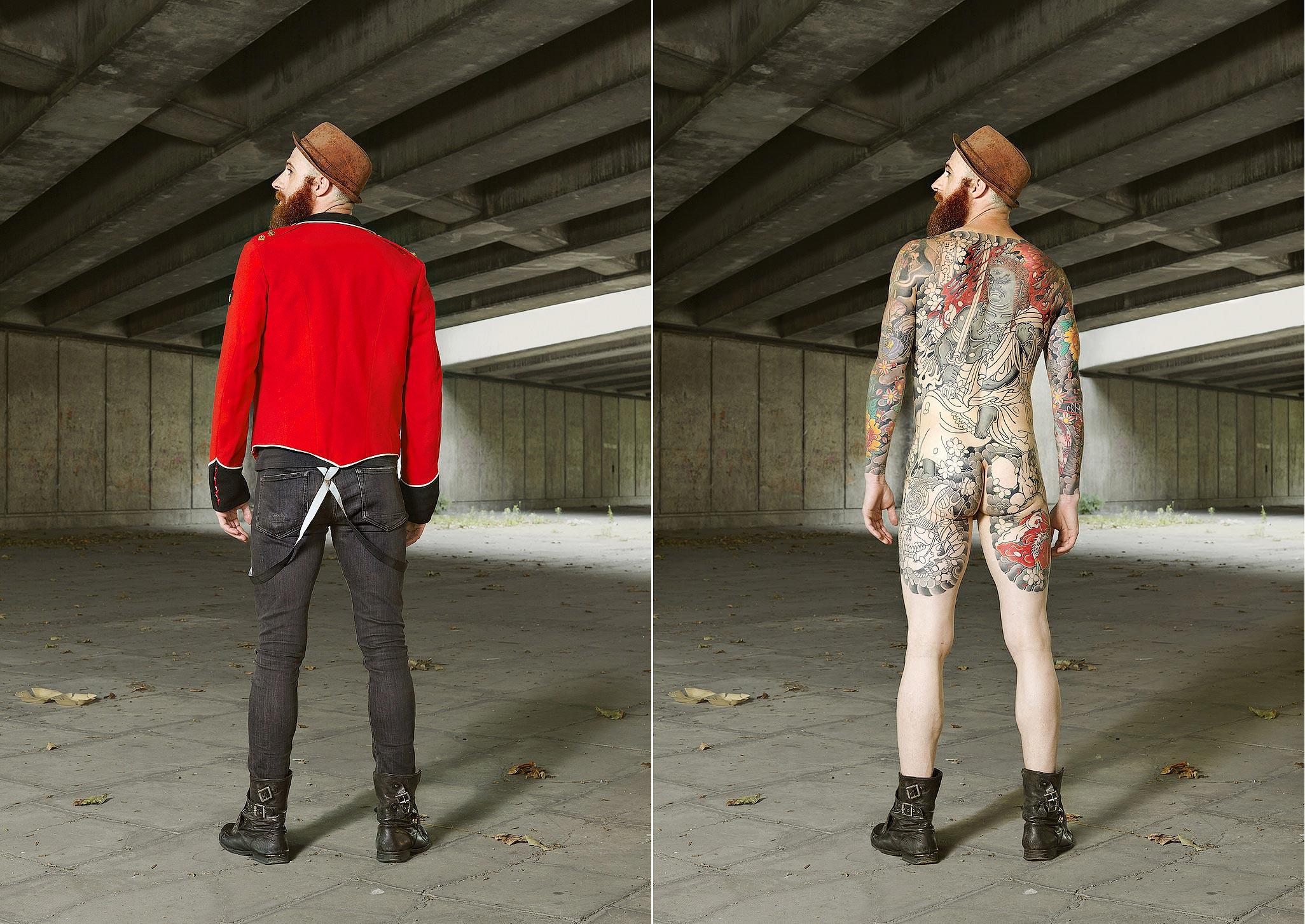 022 14 фото английских любителей тату в одежде и без