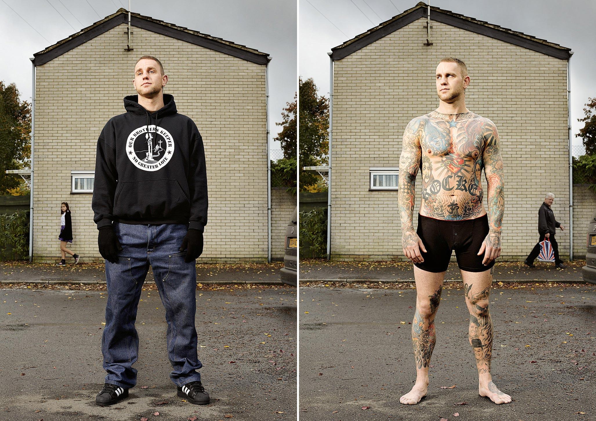 052 14 фото английских любителей тату в одежде и без