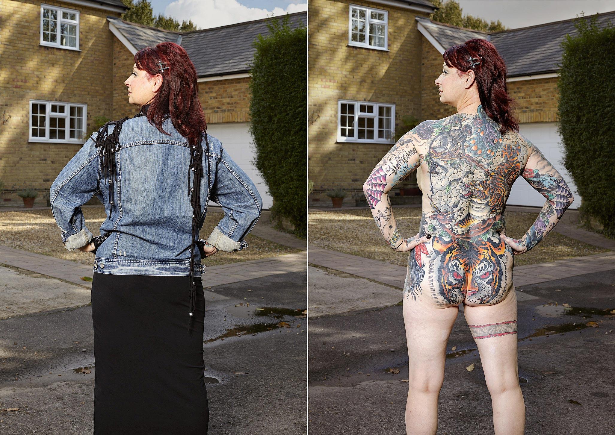 082 14 фото английских любителей тату в одежде и без