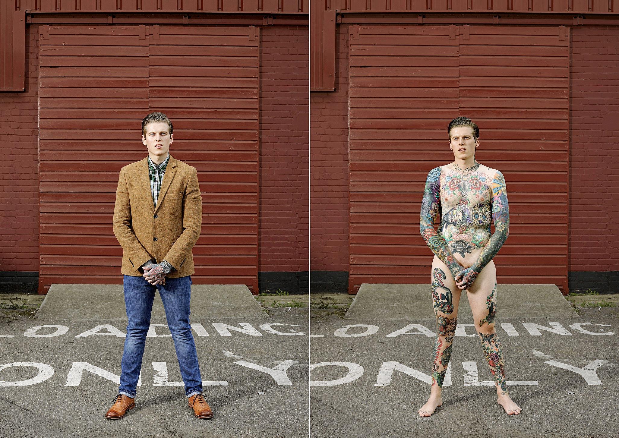 107 14 фото английских любителей тату в одежде и без