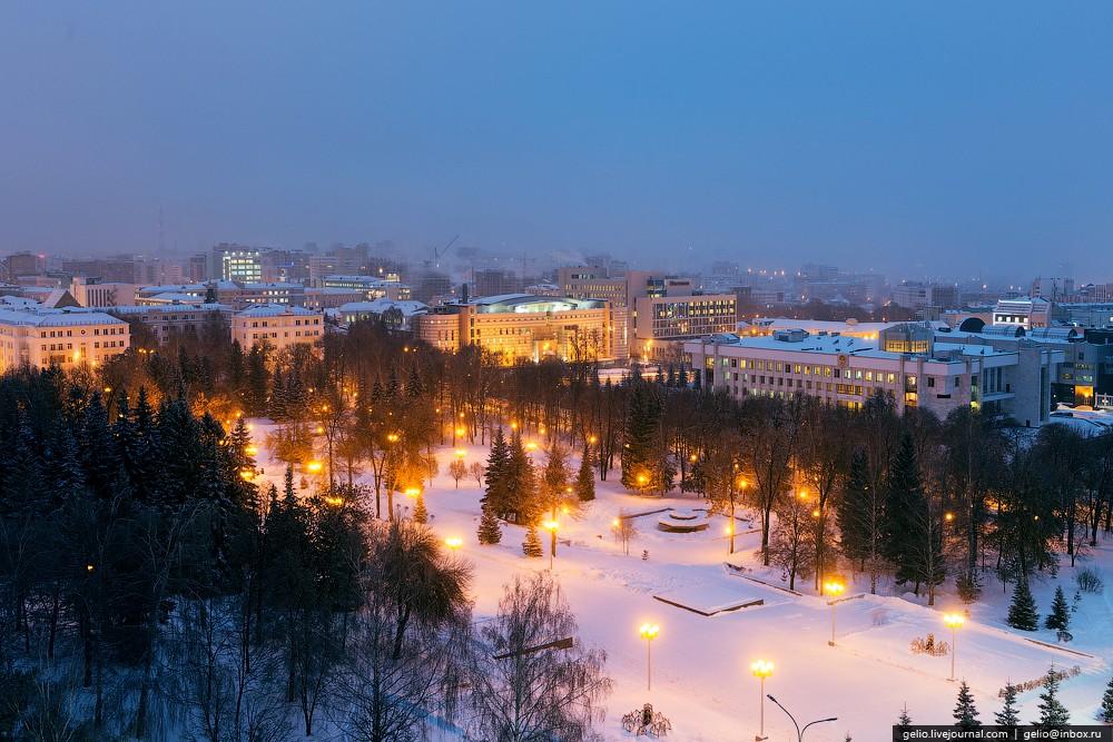 Ночная уфа фото зимой