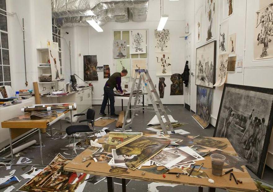 artistworkshops38 100 знаменитых художников и их мастерские
