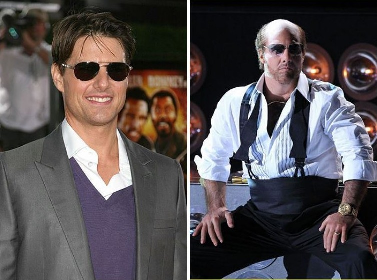 makeup11 Грим всему голова: актеры до и после удивительного перевоплощения при помощи грима
