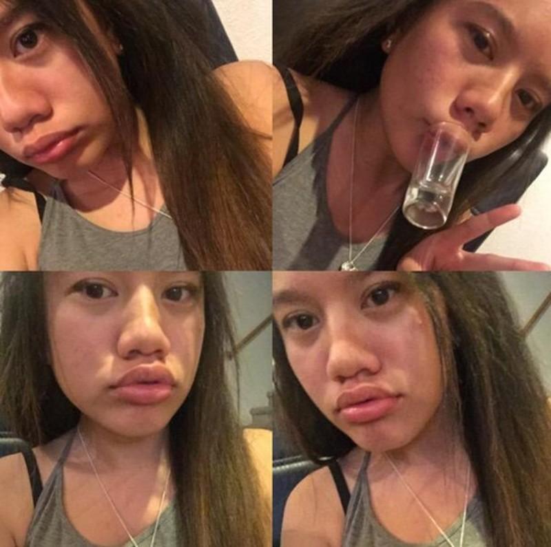 Как сделать пухлыми губы в домашних условиях видео