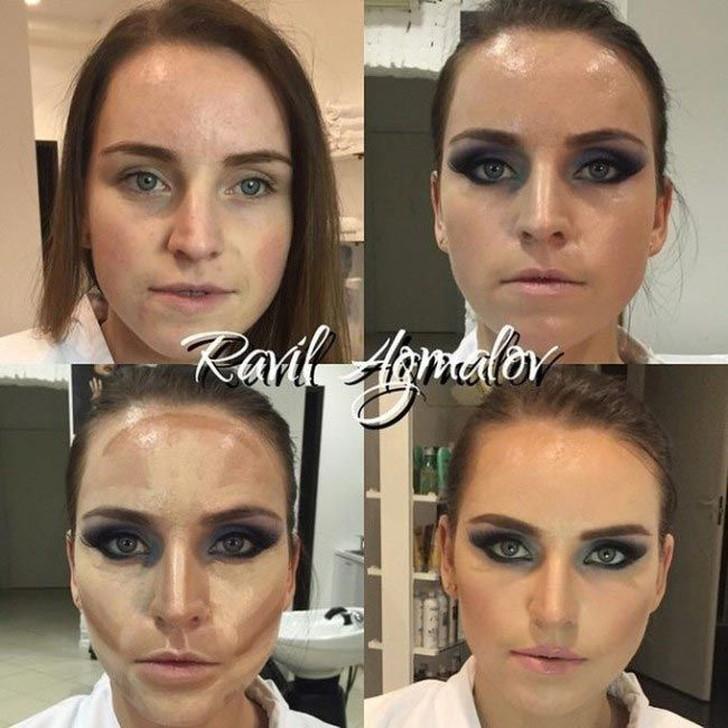 Неестественная когда макияжа
