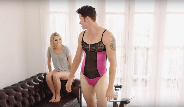 Видео транс ребята в нижнем женском белье ебутся с девушками фото поррно