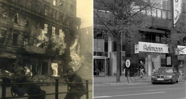 Берлин в руинах в 1945-ом и сейчас. Поразительное сравнение снимков